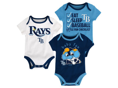 Tampa Bay Rays Majestic MLB Newborn Play Ball 3 Piece Set