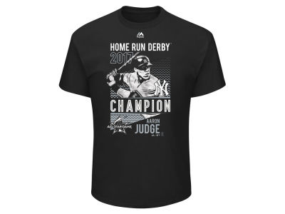 New York Yankees Aaron Judge Majestic 2017 MLB Men's Home Run Derby Champ T-shirt