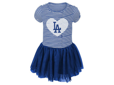 Los Angeles Dodgers Majestic MLB Infant Girls Celebration Tutu Dress