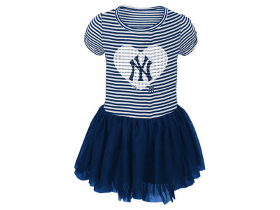 New York Yankees Majestic MLB Infant Girls Celebration Tutu Dress