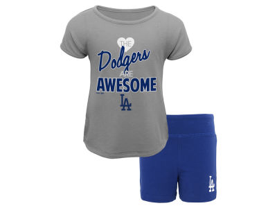 Los Angeles Dodgers Outerstuff MLB Infant Girl Greatness Short Set