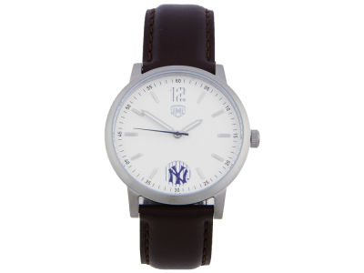 New York Yankees Jack Mason 3 Hand Watch with Brown Leather Strap