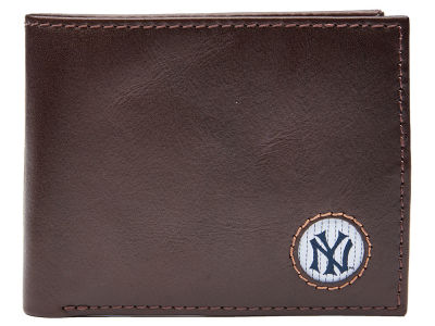New York Yankees Jack Mason Brown Leather Bifold Wallet