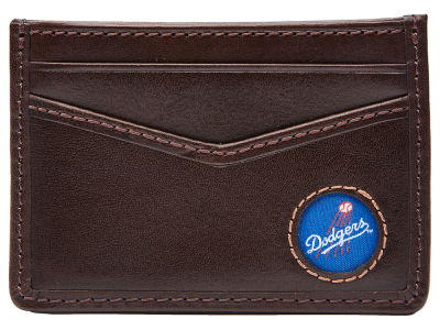 Los Angeles Dodgers Jack Mason Brown Leather Card Case