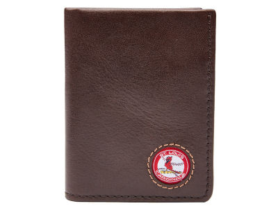St. Louis Cardinals Jack Mason Brown Leather Front Pocket Wallet
