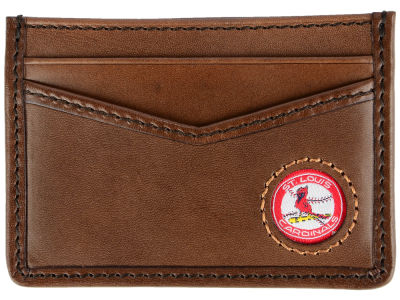 St. Louis Cardinals Jack Mason Brown Leather Card Case