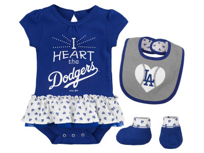 Los Angeles Dodgers Majestic MLB Newborn Girls Bib & Booty Set