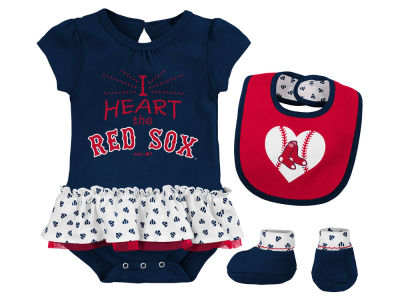 Boston Red Sox MLB Newborn Girls Bib Booty Set
