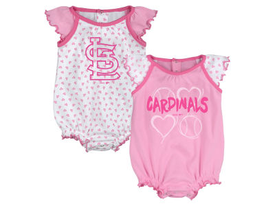 St. Louis Cardinals Majestic MLB Newborn Girls Heart Creeper Set