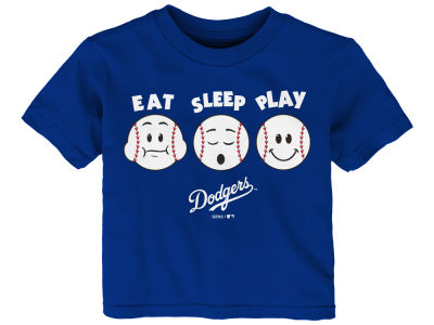 Los Angeles Dodgers Majestic MLB Infant Eat, Sleep, Play T-Shirt