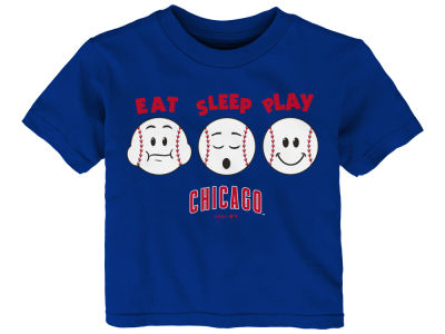 Chicago Cubs Majestic MLB Infant Eat, Sleep, Play T-Shirt