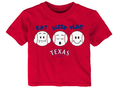 Texas Rangers Majestic MLB Infant Eat, Sleep, Play T-Shirt