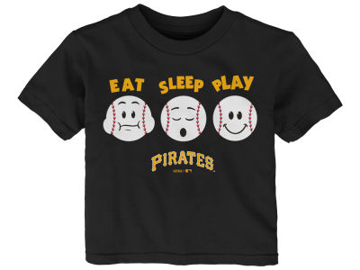 Pittsburgh Pirates Majestic MLB Infant Eat, Sleep, Play T-Shirt