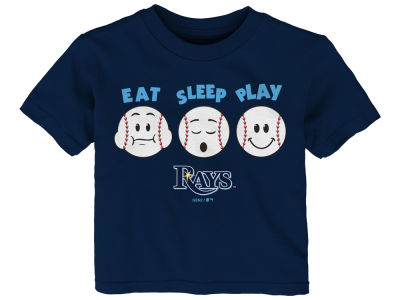 Tampa Bay Rays Majestic MLB Infant Eat, Sleep, Play T-Shirt
