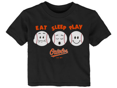 Baltimore Orioles Majestic MLB Infant Eat, Sleep, Play T-Shirt