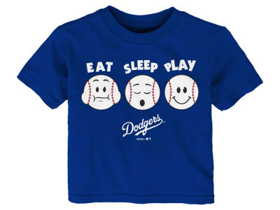 Los Angeles Dodgers Majestic MLB Toddler Eat, Sleep, Play T-Shirt