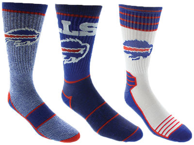 Buffalo Bills Crew Socks - 3pk