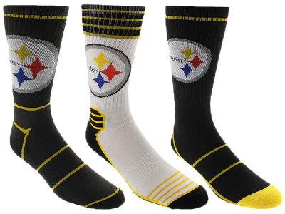 Pittsburgh Steelers Crew Socks - 3pk