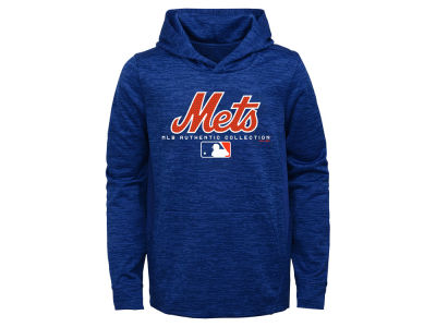 New York Mets Majestic MLB Youth Team Drive Fleece Hoodie