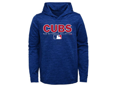 Chicago Cubs Majestic MLB Youth Team Drive Fleece Hoodie