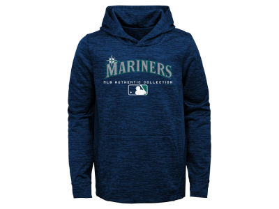 Seattle Mariners Majestic MLB Youth Team Drive Fleece Hoodie