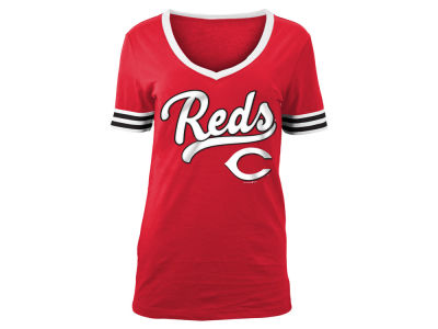 Cincinnati Reds 5th & Ocean MLB Women's Retro V T-Shirt