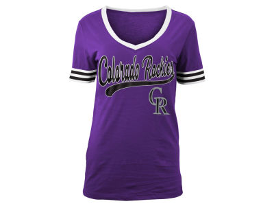 Colorado Rockies MLB Women's Retro V T-Shirt