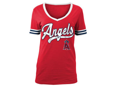 Los Angeles Angels 5th & Ocean MLB Women's Retro V T-Shirt