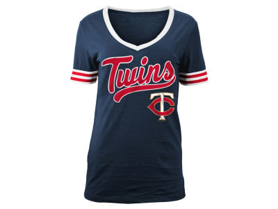 Minnesota Twins MLB Women's Retro V T-Shirt