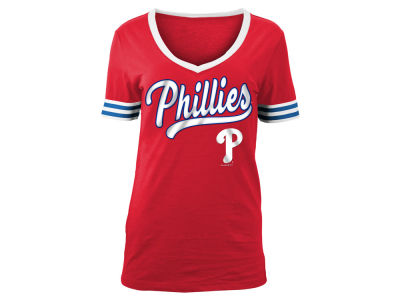 Philadelphia Phillies 5th & Ocean MLB Women's Retro V T-Shirt