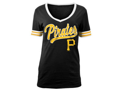 Pittsburgh Pirates 5th & Ocean MLB Women's Retro V T-Shirt