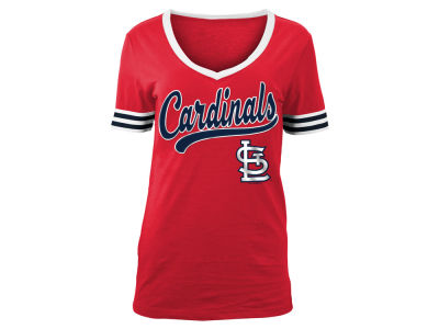 St. Louis Cardinals MLB Women's Retro V T-Shirt