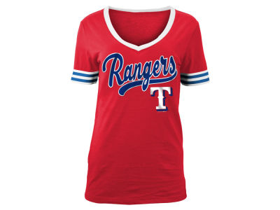 Texas Rangers 5th & Ocean MLB Women's Retro V T-Shirt