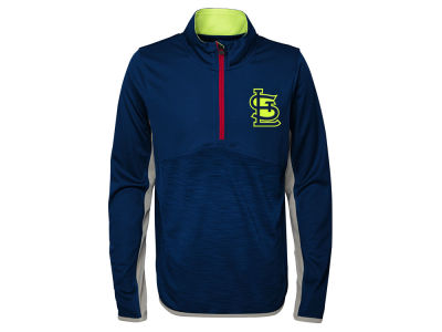 St. Louis Cardinals Majestic MLB Youth Excellence Quarter Zip Pullover