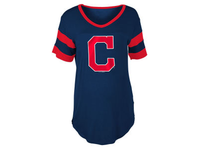 Cleveland Indians MLB Women's Sleeve Stripe Relax T-shirt