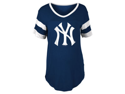 New York Yankees 5th & Ocean MLB Women's Sleeve Stripe Relax T-shirt