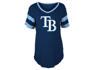 Tampa Bay Rays 5th & Ocean MLB Women's Sleeve Stripe Relax T-shirt