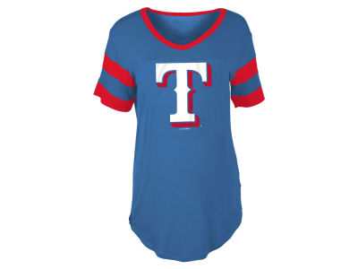 Texas Rangers MLB Women's Sleeve Stripe Relax T-shirt