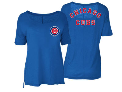 Chicago Cubs 5th & Ocean MLB Women's Relaxed Scoop T-Shirt