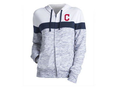Cleveland Indians 5th & Ocean MLB Women's Space Dye Hoodie