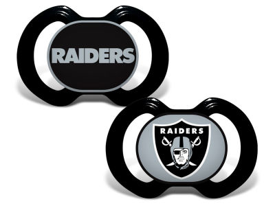 Oakland Raiders Wincraft 2-pack Pacifier Set