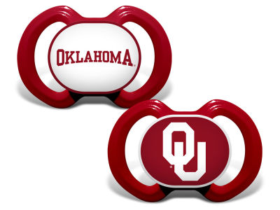 Oklahoma Sooners Baby Fanatic 2-pack Pacifier Set