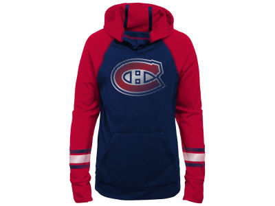 Montreal Canadiens Outerstuff NHL Youth Girls Forward Funnel Hoodie