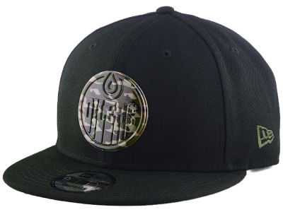 Edmonton Oilers New Era NHL Bold Bevel 9FIFTY Snapback Cap