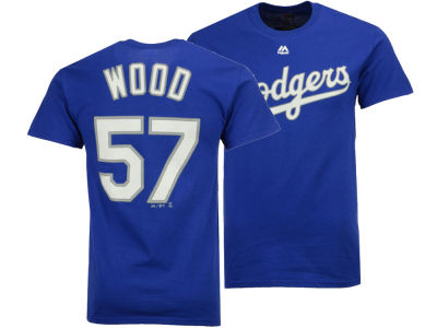 Los Angeles Dodgers Alex Wood Majestic MLB Men's Official Player T-Shirt