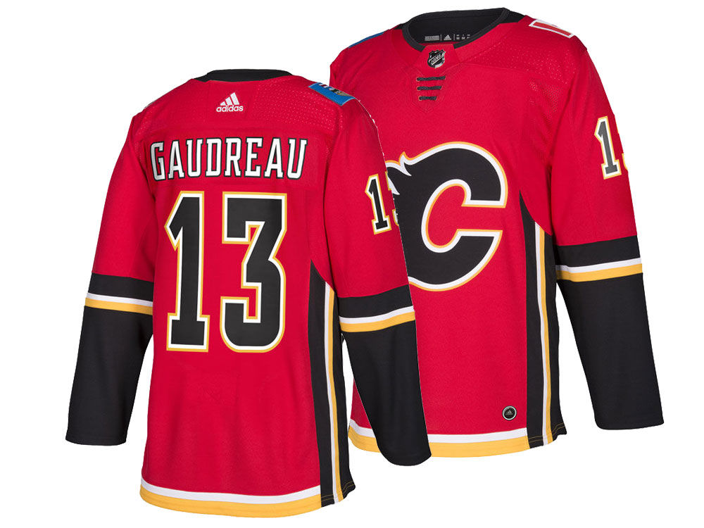 Calgary Flames Johnny Gaudreau adidas NHL Men s adizero Authentic Pro  Player Jersey  05f056b69