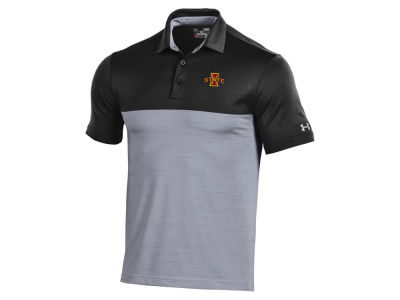 Iowa State Cyclones Under Armour NCAA Men's Playoff Colorblock Polo