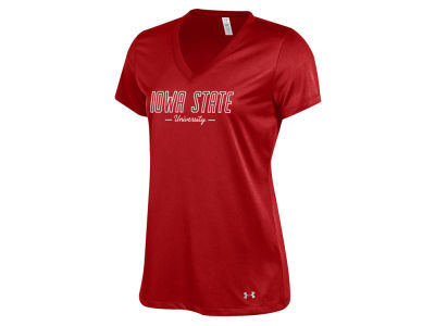 Iowa State Cyclones Under Armour 2017 NCAA Women's Tech V-Neck T-Shirt