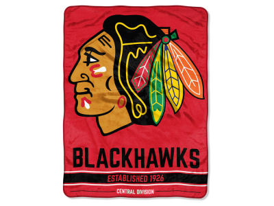 "Chicago Blackhawks Micro Raschel 46x60 ""Break Away"" Blanket"