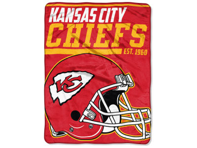 "Kansas City Chiefs Micro Raschel 46x60 ""40 Yard Dash"" Blanket"